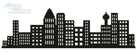 cross stitch pattern City Skyline