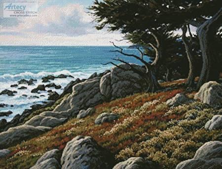cross stitch pattern Cypress and Sea
