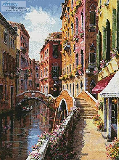 cross stitch pattern Double Bridge Venice