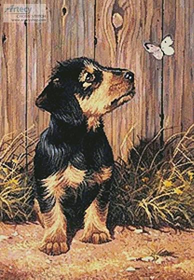 cross stitch pattern Dachshund Puppy
