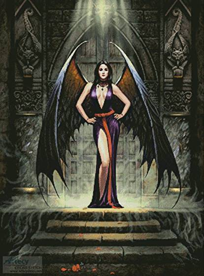 cross stitch pattern Dark Angel
