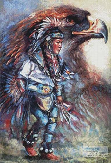 cross stitch pattern Eagle Dancer