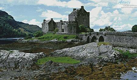 cross stitch pattern Eilean Donan Castle