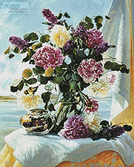 cross stitch pattern Floral Arrangement