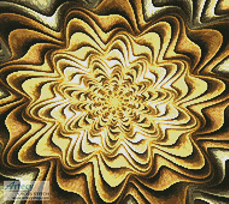 cross stitch pattern Fractal Abstract Crop
