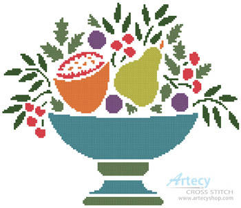 cross stitch pattern Fruit Bowl