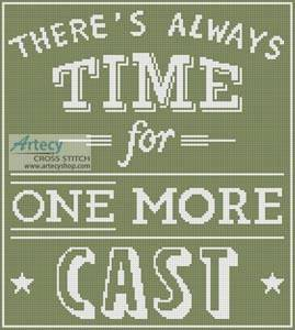 cross stitch pattern Fishing Quote 3