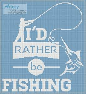 cross stitch pattern Fishing Quote 4