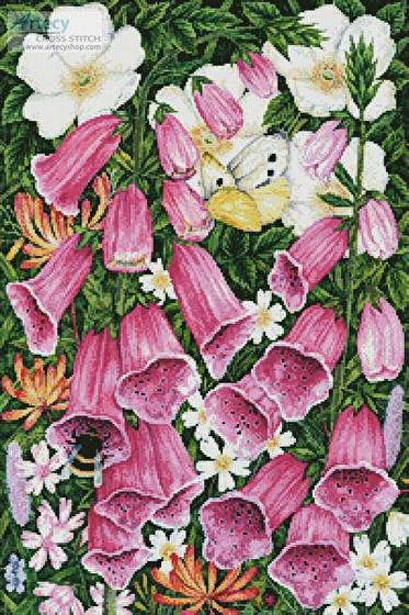 cross stitch pattern Foxgloves