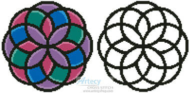 cross stitch pattern Geometric Design 1