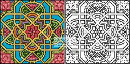 cross stitch pattern Geometric Design 2