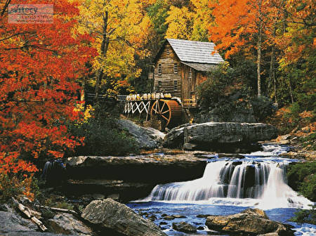 cross stitch pattern Glade Creek Grist Mill (Large)