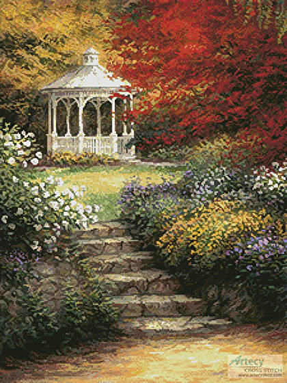 cross stitch pattern Garden Steps
