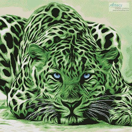 cross stitch pattern Green Leopard