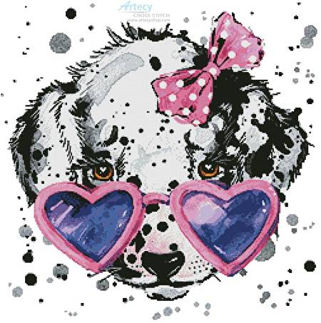 cross stitch pattern Groovy Pup