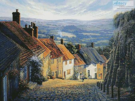 cross stitch pattern Home to Gold Hill