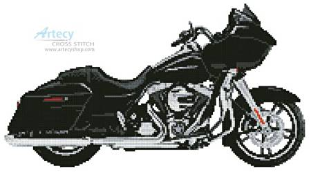 cross stitch pattern Harley Road Glide