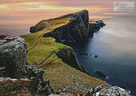 cross stitch pattern Isle of Skye