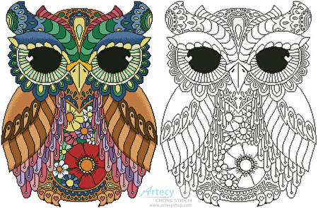cross stitch pattern Kurby Owl