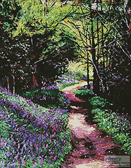 cross stitch pattern Lavender Lane