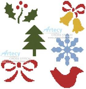cross stitch pattern Little Christmas Motifs 2