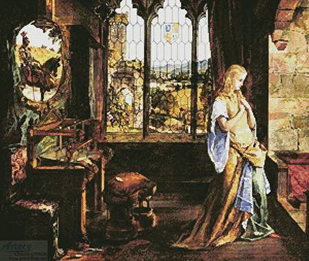 cross stitch pattern Lady of Shalott