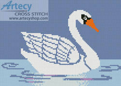 cross stitch pattern Little Swan