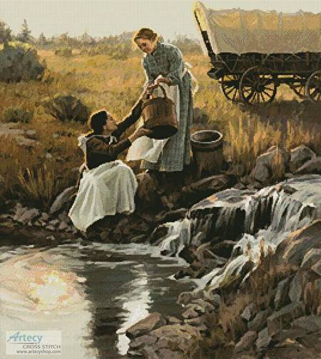 cross stitch pattern Living Waters
