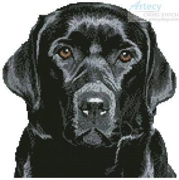cross stitch pattern Mini Black Labrador