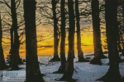 cross stitch pattern Mini Black Forest