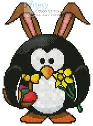 cross stitch pattern Mini Easter Penguin