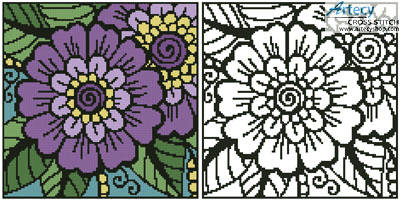 cross stitch pattern Mini Flower Design 1