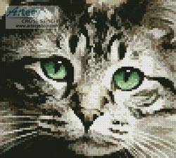cross stitch pattern Mini Green Eyes