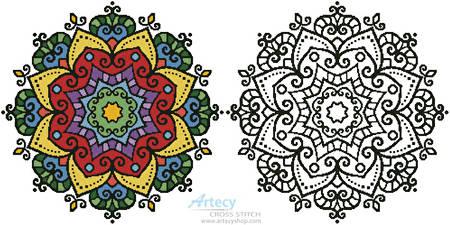 cross stitch pattern Mandala Design 1
