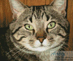 cross stitch pattern Mini Purr