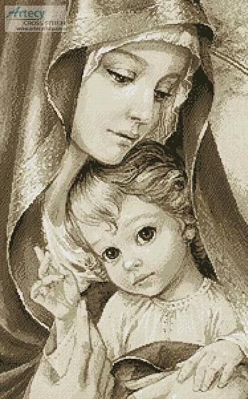 cross stitch pattern Mother of God (Beige)
