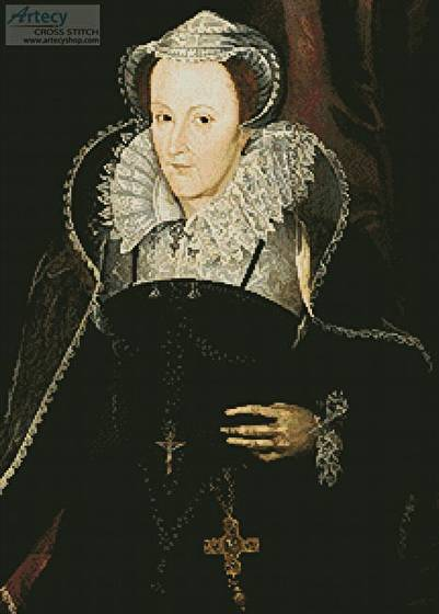 cross stitch pattern Mary Queen of Scots