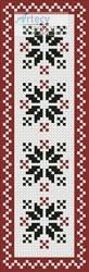 cross stitch pattern Nordic Bookmark 2