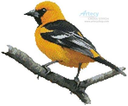 cross stitch pattern Oriole