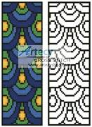 cross stitch pattern Peacock Feathers Bookmark