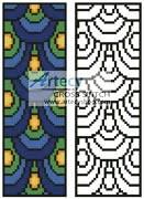 cross stitch pattern Peacock Feathers Bookmark