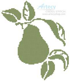 cross stitch pattern Pear