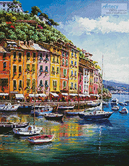 cross stitch pattern Portofino Vista