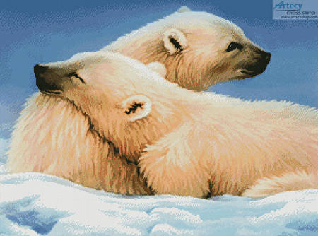cross stitch pattern Polar Bears