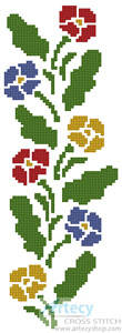 cross stitch pattern Primrose Border