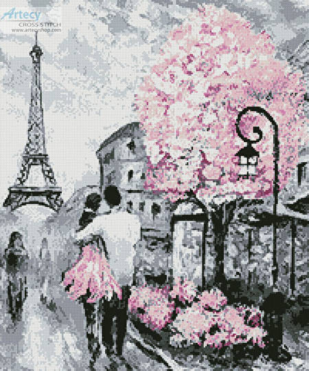 cross stitch pattern Paris Abstract (Crop)