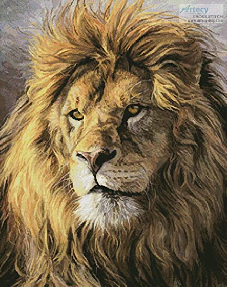cross stitch pattern Portrait of a Lion