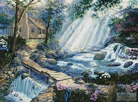 cross stitch pattern A Path well Chosen (Large)