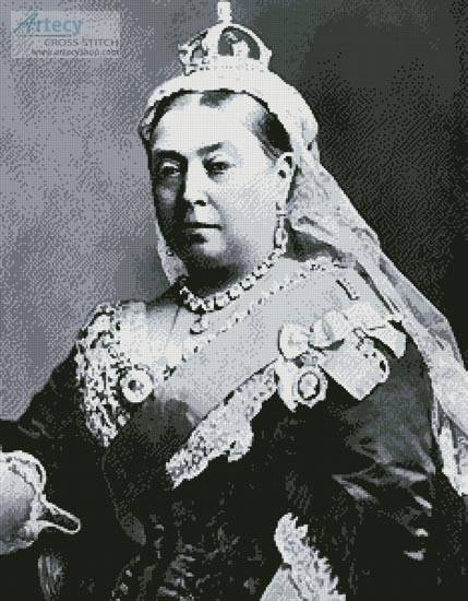 cross stitch pattern Queen Victoria