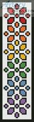 cross stitch pattern Rainbow Bookmark